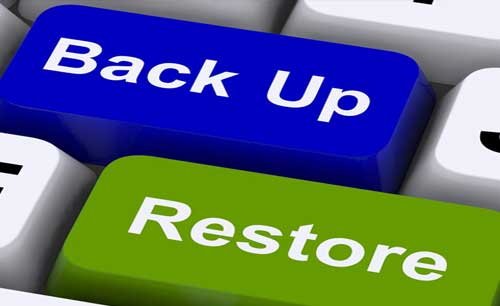 franchise software backup and restore